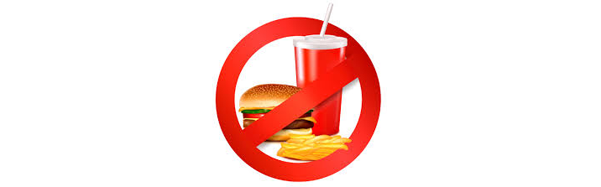 Avoid too much of eating fast foods